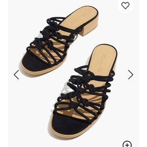 "NWT Madewell ""Dakota"" black sandal"